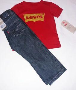 Levi's Boys Toddler 2pc Jean's Tee Set